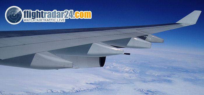 Flightradar näyttää lennot reaaliaikaisesti kartalla